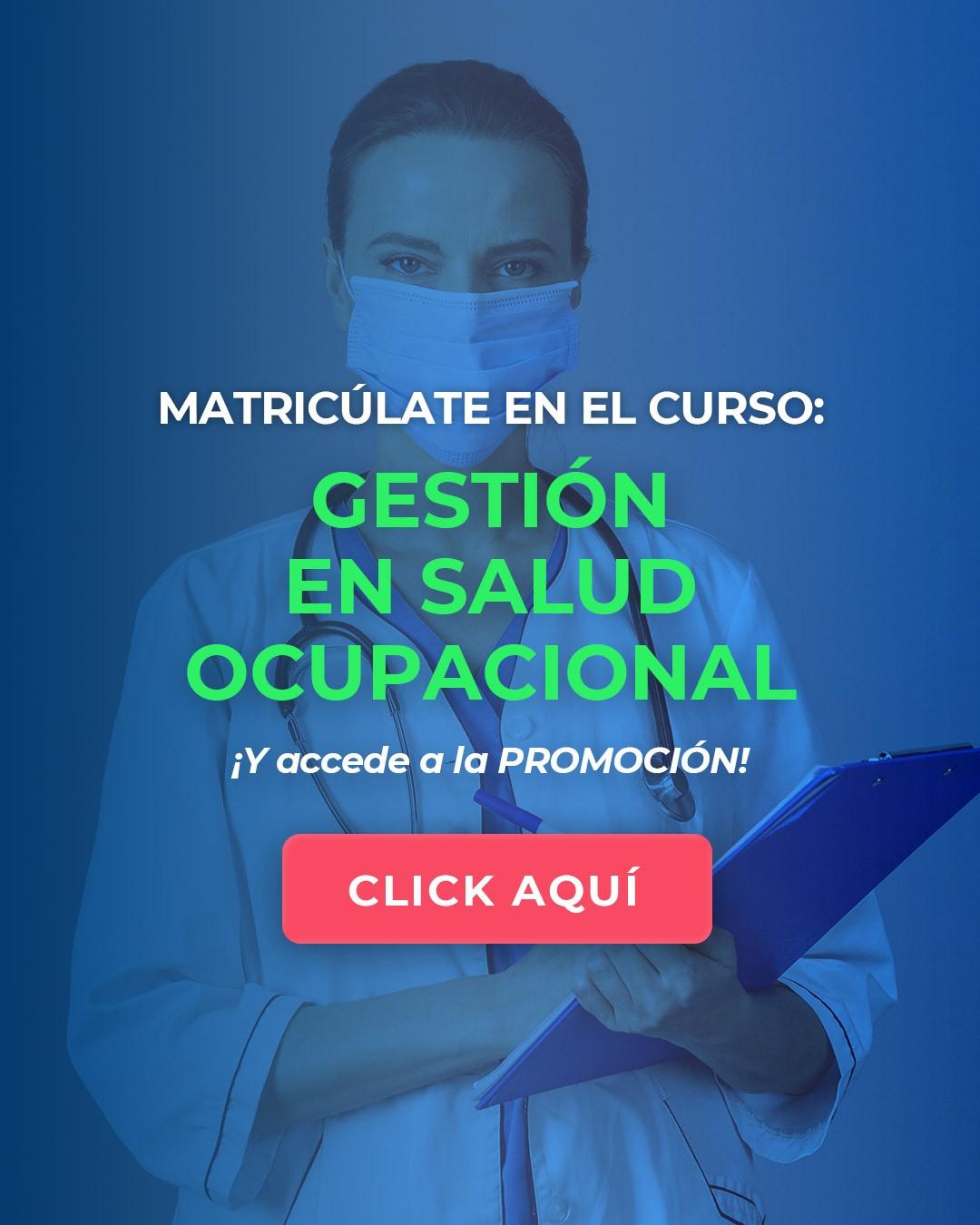 CURSO DE GESTIÓN EN SALUD OCUPACIONAL CELULAR